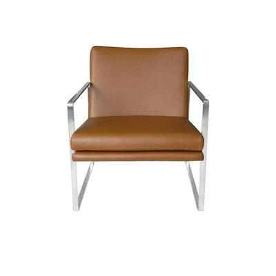 Arm Chair Upholstery: Tan