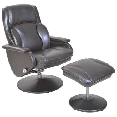 Cheng Serta Swivel Recliner with Ottoman Upholstery: San Marino Chocolate