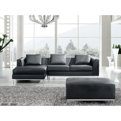 Catlett Sectional Upholstery: Black