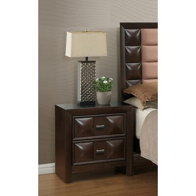 Digregorio 2 Drawer Nightstand