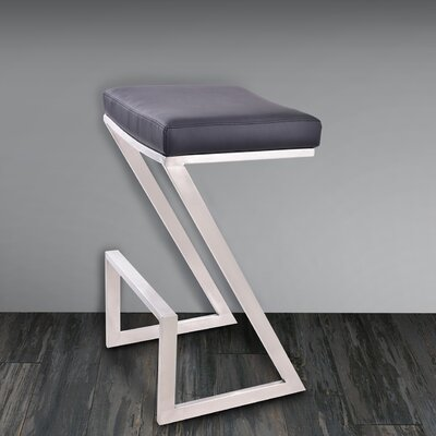 Bova 26 Bar Stool Upholstery: Black