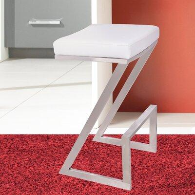 Wilber 26 inch Bar Stool Upholstery: White