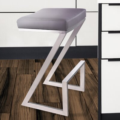 Wilber 26 inch Bar Stool Upholstery: Gray