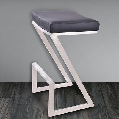 Wilber 30 inch Bar Stool Upholstery: Black