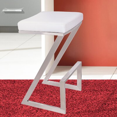 Wilber 30 Bar Stool Upholstery: White
