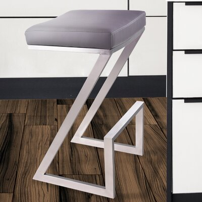 Wilber 30 Bar Stool Upholstery: Gray