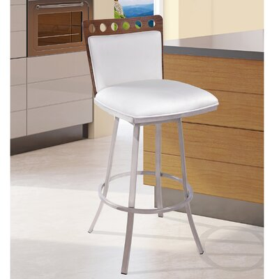 Webber 26 Swivel Bar Stool Upholstery: White