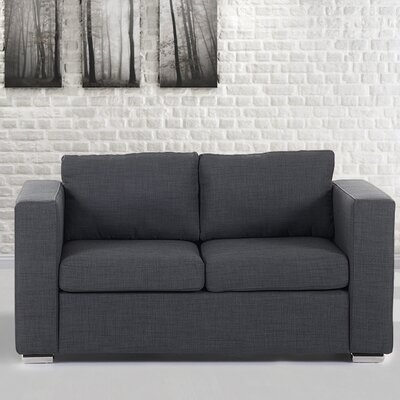 Holahan Loveseat Finish: Dark Gray