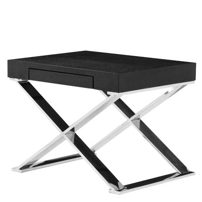 Roreti End Table Finish: Black