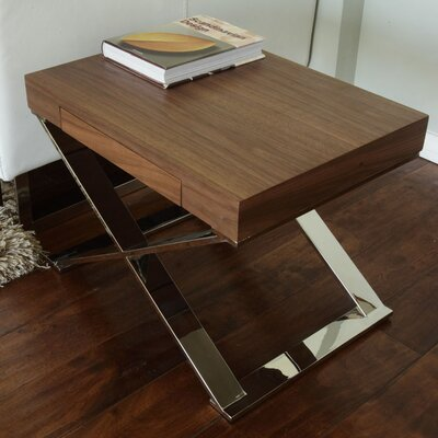 Roreti End Table Finish: Walnut