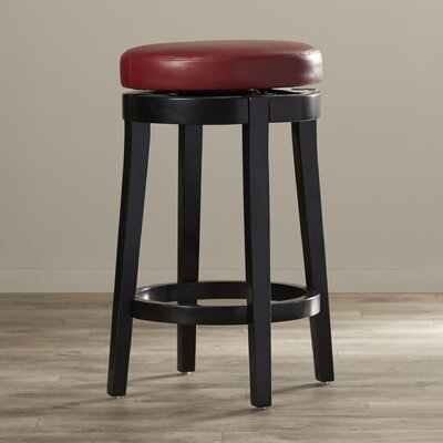 Seth 26 inch Swivel Bar Stool Upholstery: Red
