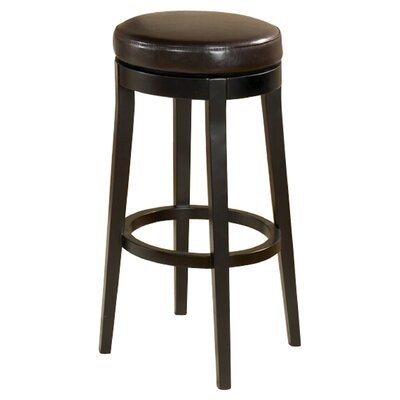 Seth 26 Swivel Bar Stool Upholstery: Brown