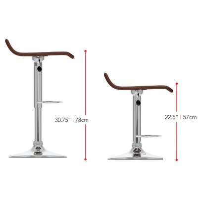 Tanner Adjustable Height Swivel Bar Stool