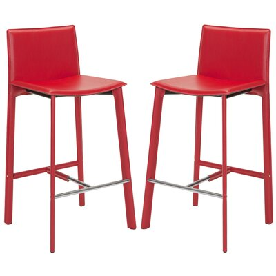 Carrillo 30 Bar Stool Finish: Red