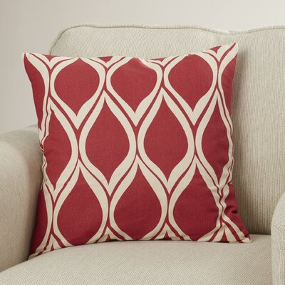 Ochoa Cotton Throw Pillow Size: 18 H x 18 W x 4 D, Color: Cherry/Light Gray