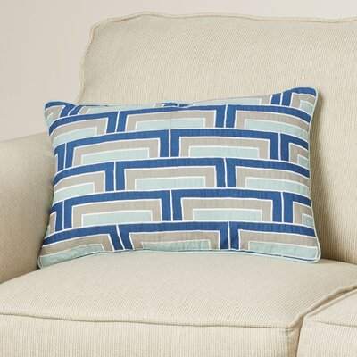 Balard Lumbar Pillow Color: Cobalt/Mint/Gray/Ivory