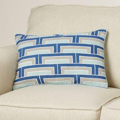 Balard Lumbar Pillow Color: Cobalt/Mint/Gray/Ivory