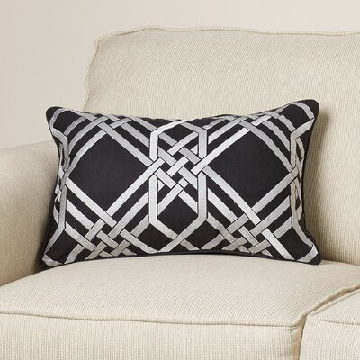 Barker Lumbar Pillow Color: Light Gray