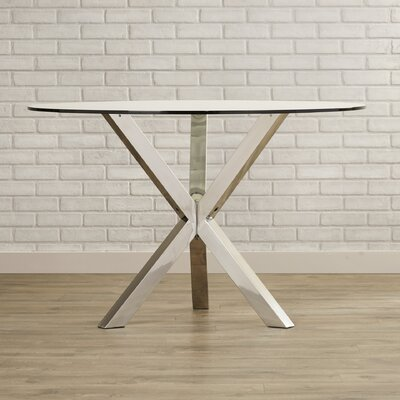 Bathampton Dining Table Finish: Clear Glass Top