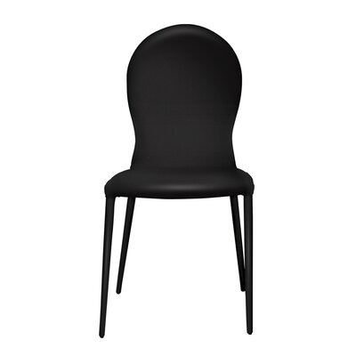 Strong Side Chair (Set of 2) Upholstery: Black