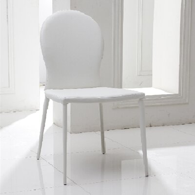 Strong Side Chair (Set of 2) Upholstery: White