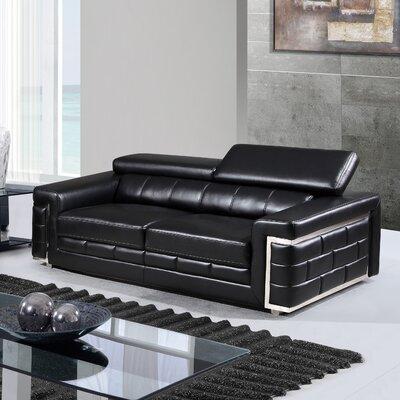 Stokes Sofa Upholstery: Black