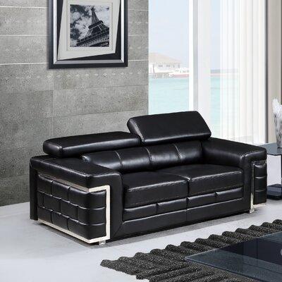 Cecere Loveseat Upholstery: Black