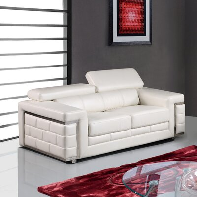 Cecere Loveseat Upholstery: White