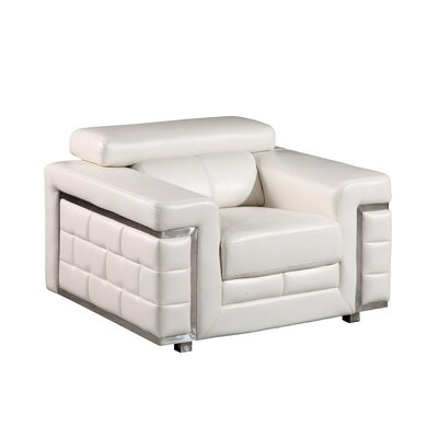 Stephenson Lounge Chair Color: White