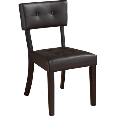 Elis Side Chair (Set of 2) Color: Brown