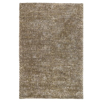 Revathi Hand-Woven Silver Area Rug Rug Size: 5 x 8