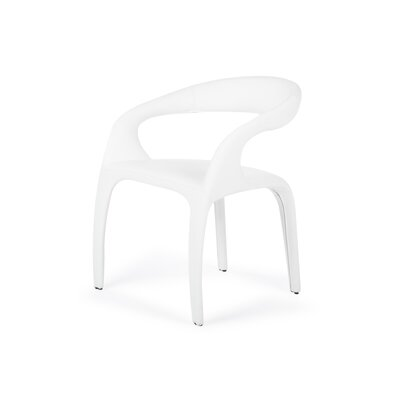 Camron Upholstered Arm Chair Upholstery: White
