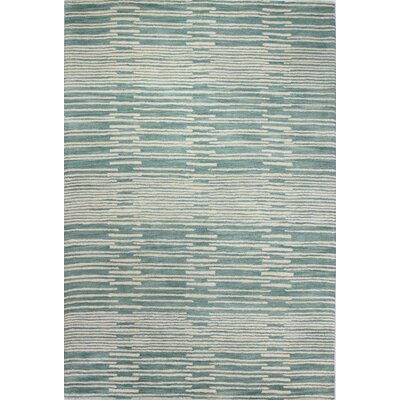 Gustavo Hand-Tufted Aqua Area Rug Rug Size: 36 x 56