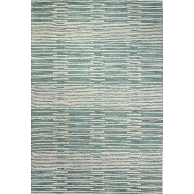 Gustavo Hand-Tufted Aqua Area Rug Rug Size: 76 x 96