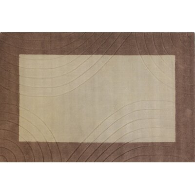 Forrest Hand-Loomed Beige Area Rug Rug Size: 5 x 76