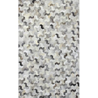 Davi Hand-Crafted Gray Area Rug Rug Size: 5 x 8