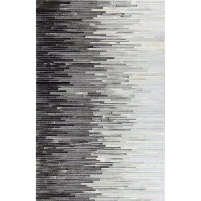 Davi Hand-Crafted Gray Area Rug Rug Size: 9 x 12