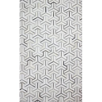 Davi Handmade Grey Area Rug Rug Size: 5 x 8