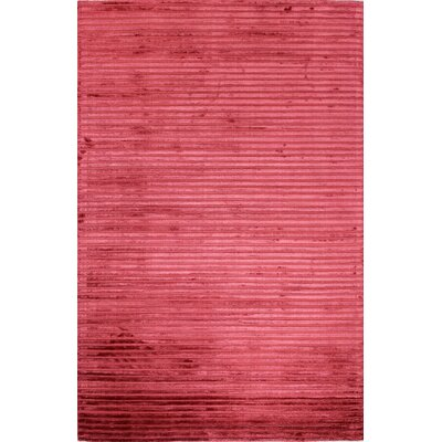 Micheal Flat woven Red Area Rug Rug Size: 5 x 76