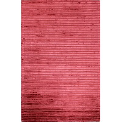 Micheal Flat woven Red Area Rug Rug Size: 76 x 96