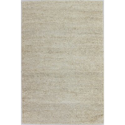 Ricky Hand-Woven Ivory Area Rug Rug Size: 76 x 96