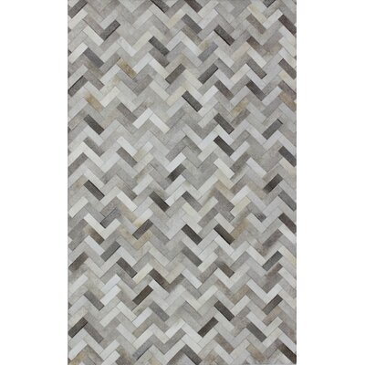 Leslie Flat woven Ash Area Rug Rug Size: 8 x 10