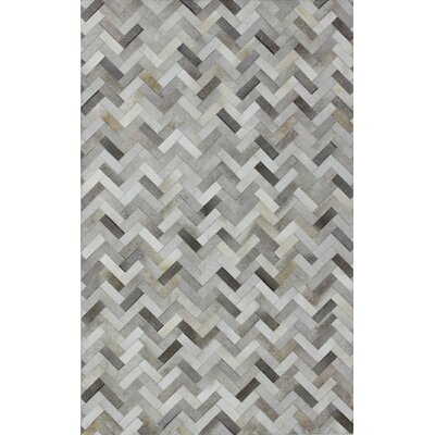 Leslie Flat woven Ash Area Rug Rug Size: 9 x 12