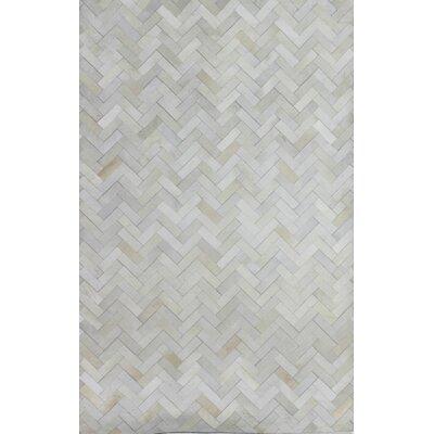 Leslie Flat woven Cream Area Rug Rug Size: 8 x 10