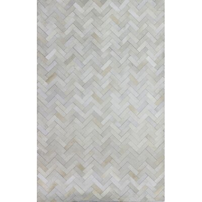 Leslie Flat woven Cream Area Rug Rug Size: 9 x 12
