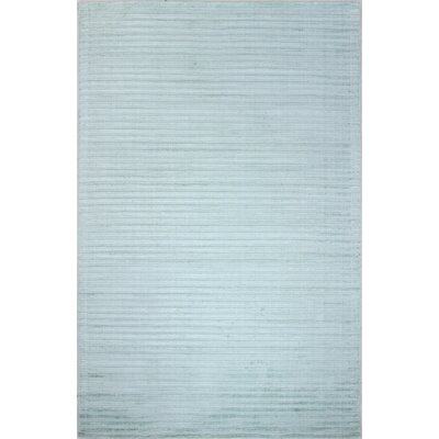 Micheal Flat woven Light Blue Area Rug Rug Size: 76 x 96