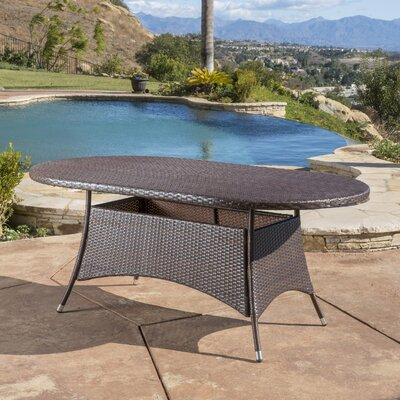 Andre Outdoor Wicker Oval Dining Table