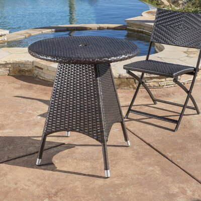 Brissette Outdoor Wicker Round Bistro Table 42 Product Photo