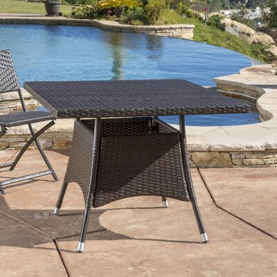 Thorncrest Outdoor Wicker Square Dining Table