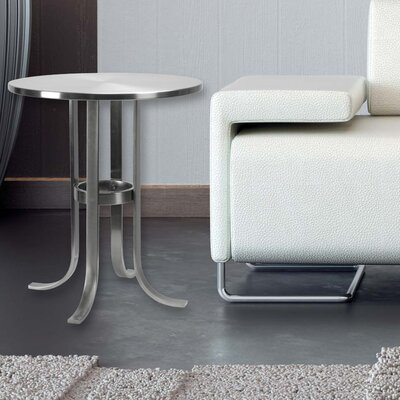 Tracy End Table Finish: Brushed Steel